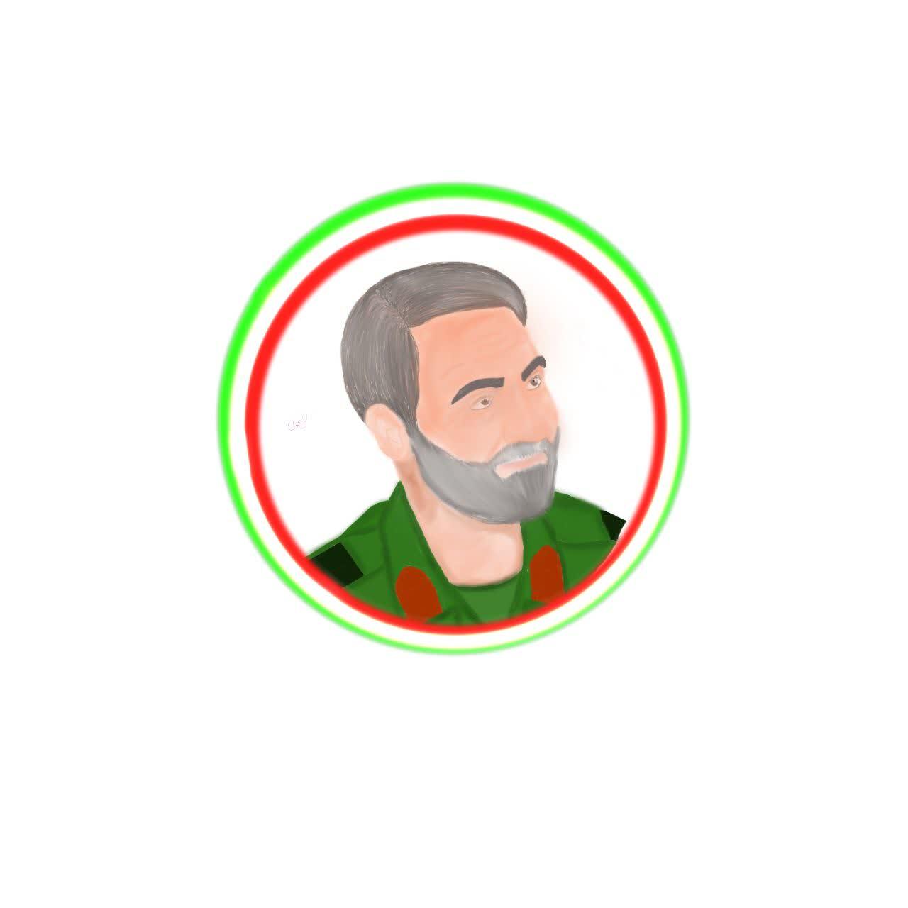 شهید حاج قاسم سلیمانی - طراح فاطمه اسدی