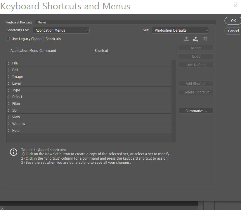 ساخت شورت کد سفارشی فتوشاپ