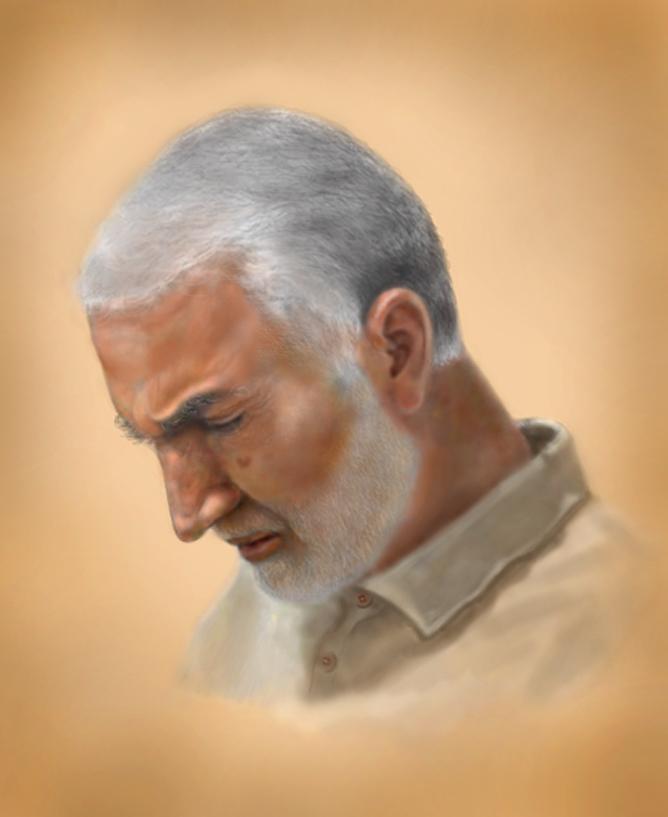 شهید حاج قاسم سلیمانی - طراحی شیما واحد