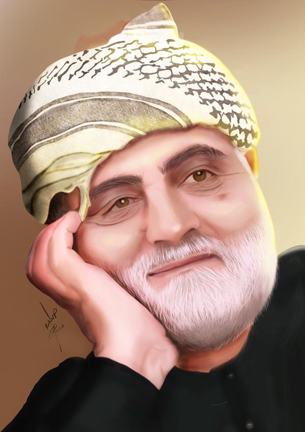 شهید حاج قاسم سلیمانی (سلام الله علیه) - طراح مائده رحیمی