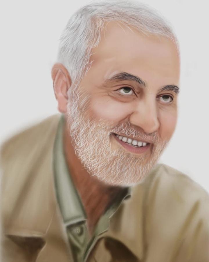 شهید حاج قاسم سلیمانی (سلام الله علیه) - طراح فاطمه شریفی شریف
