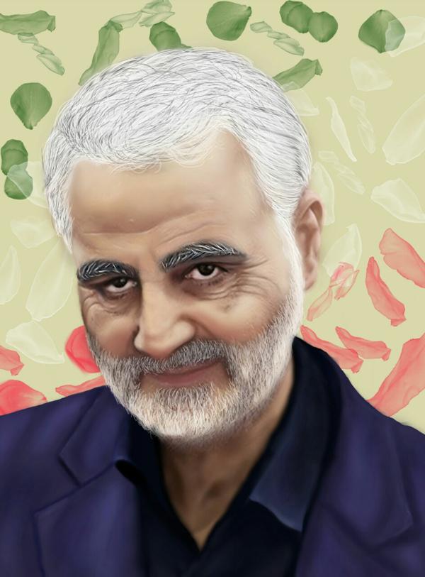 شهید حاج قاسم سلیمانی (سلام الله علیه) - طراح فاطمه صدری